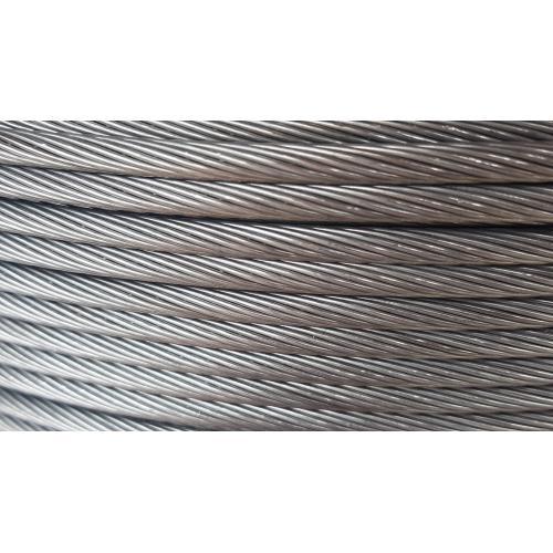 Ocelové lano pro spojení příčných sloupů 5mm, 1x19