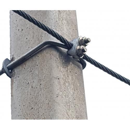 Třmen, objímka betonového sloupu  M8, 7x8 cm  s patlí