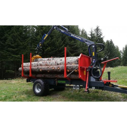 Vyvážecí vlek na dřevo jednoosý