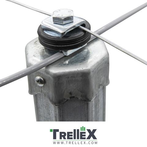 Klobouk na ocelové sloupy Trellex ocelový Titan 65