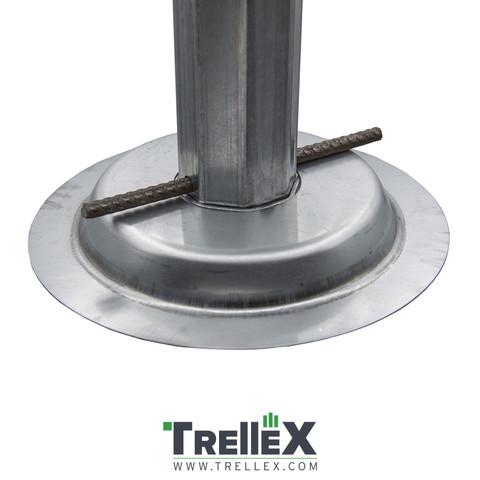 Základová patka na sloupek Trellex