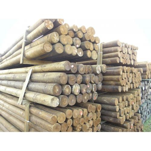 Dřevěný borovicový tlakově impregnovaný sloup 8/10 - délka 3,5 m